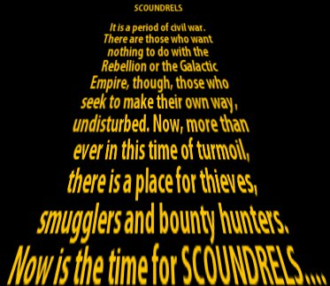 Star Wars: Scoundrels Scroll